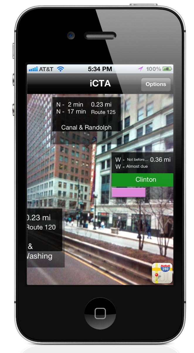 Chicago Transit Augmented Reality App