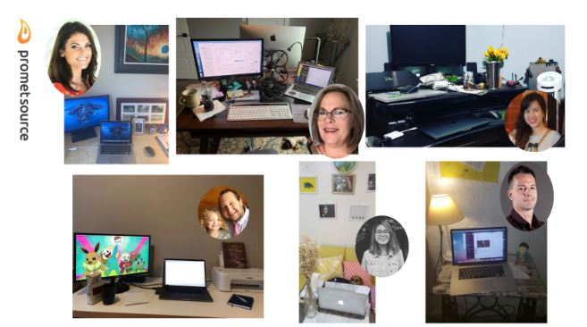 Screenshot of employees and their workspaces