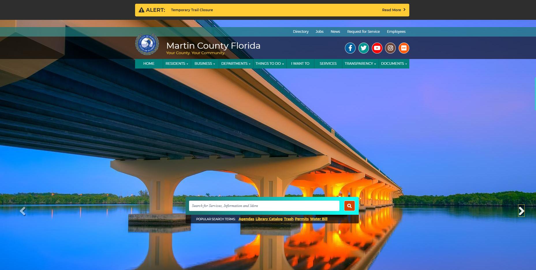 Martin County Florida website