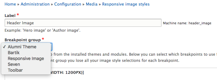 Responsive Image style