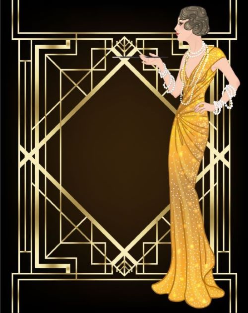 an representative Roaring 20s illustration of a woman