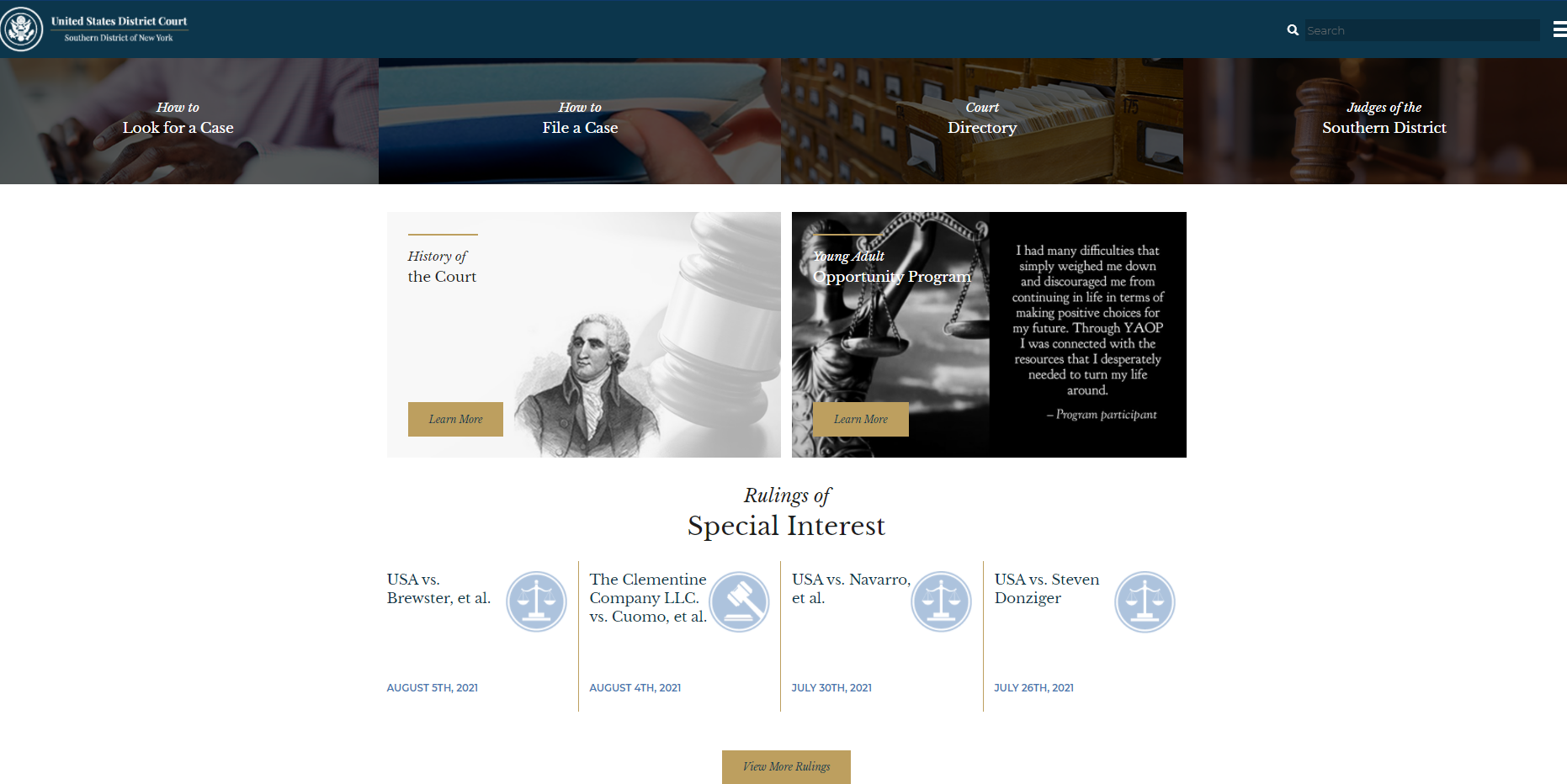Southern District of New York website