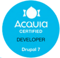 Badge image Acquia Certified Developer Drupal 7