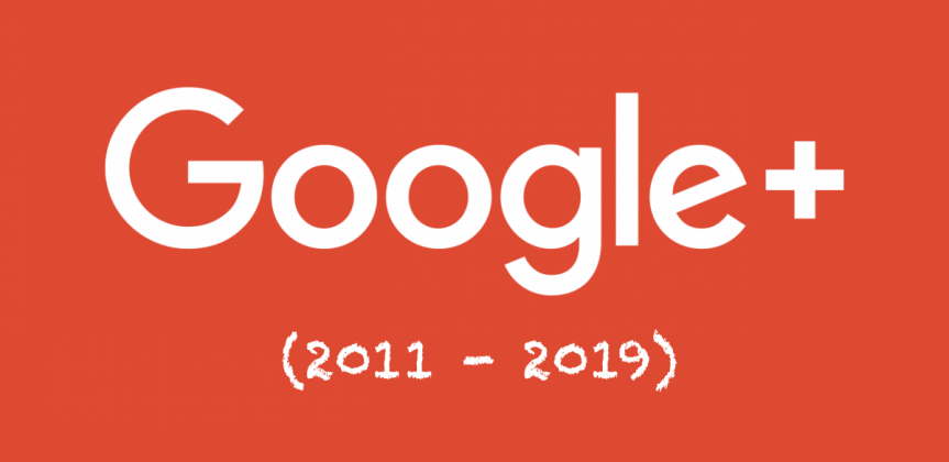 Google plus logo with creation date to end date