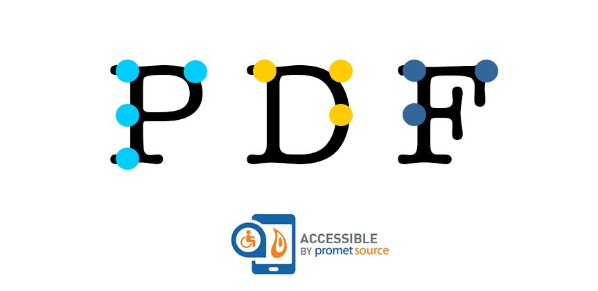 Braille text over letters PDF to depict PDF accessibility