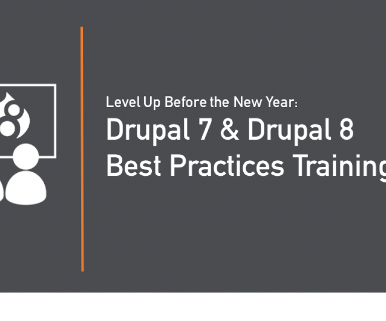 Drupal 7 & Drupal 8 Training December 2017 header image