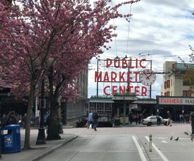 Photo outside of Pike place in Seattle