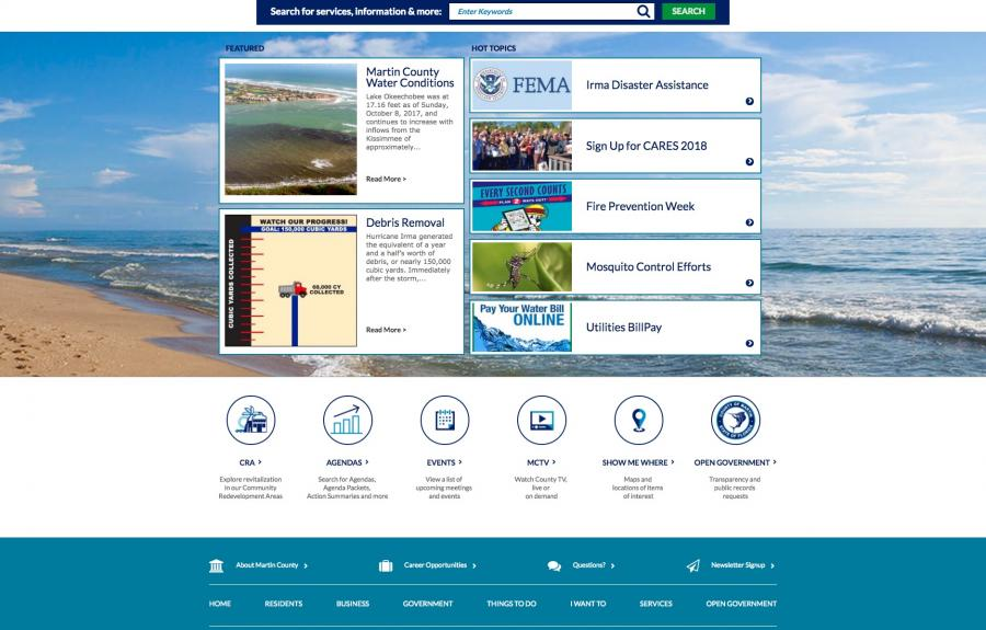 ada web accessibility government digital design martin county florida homepage