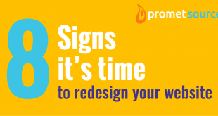 a banner that reads 8 signs it's time to redesign your website