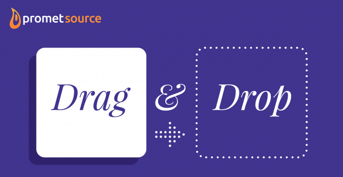 Drag and drop banner