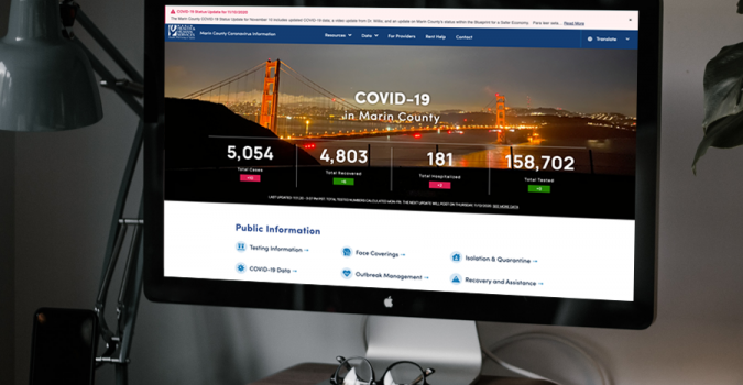 Marin County Covid-19 website