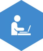 blue hexagon consulting service icon